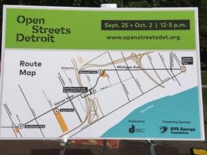 Open Streets Detroit's Route