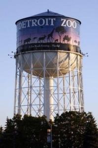 """Detroit"" Zoo water tower, located in Royal Oak, Michigan"