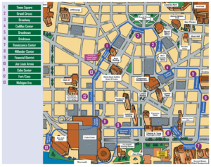 people mover detroit map Challenge Detroit My Experience With The People Mover And What people mover detroit map
